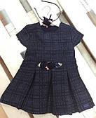 Платье и ободок в комплекте Monna Rosa Твид (р.2/3, 3/4 года)