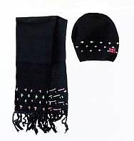 Детский Комплект: шапка, шарф для девочки