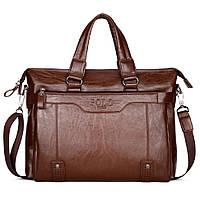 Мужская сумка-портфель POLO 16501 Коричневая