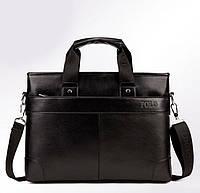 Мужская сумка-портфель POLO 16507 Черная