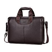 Мужская сумка-портфель POLO 16504 Коричневая