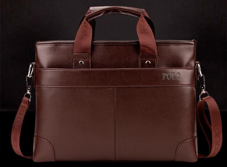 5e1975c26c3a Мужская сумка-портфель POLO 16506 Коричневая - beri.ua – всегда выгоднее в  Киеве
