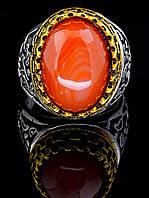 Мужское кольцо с камнем сердолик