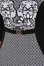 Нарядное женское черное платье футляр классическое с принтом Кружево, большие размеры Джемма-Б д/р, фото 3