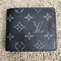 Мужской кошелек Louis Vuitton Wallet Florin Monogram Eclipse, Копия