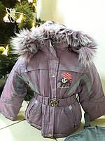 "Зимняя курточка и комбинезон ""Алиса"" сиреневый. , фото 1"