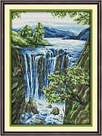 Набор для вышивания крестом с печатью на ткани NKF Водопад 14ст F884/3