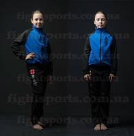 Детский спортивный костюм Киокушинкай (синий)