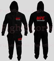 Спортивный костюм UFC BLACK NEW (на молнии)