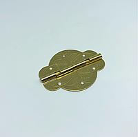 Петля фигурная декор. Цвет золото. 43х35мм