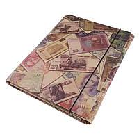 Папка на резинке для тетрадей 200*250 КРАФТ покрытие