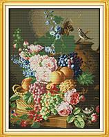 Натюрморт с птичкой H404/2 Набор для вышивания крестиком с печатью на ткани 14ст