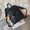 Рюкзак женский Черный с яркой кисточкой