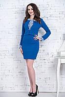 Костюм облегающее элегантное женское платье с жакетом