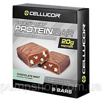 Протеиновый батончик Cellucor Cor-sport Chocolate Mint 5 шт., фото 2