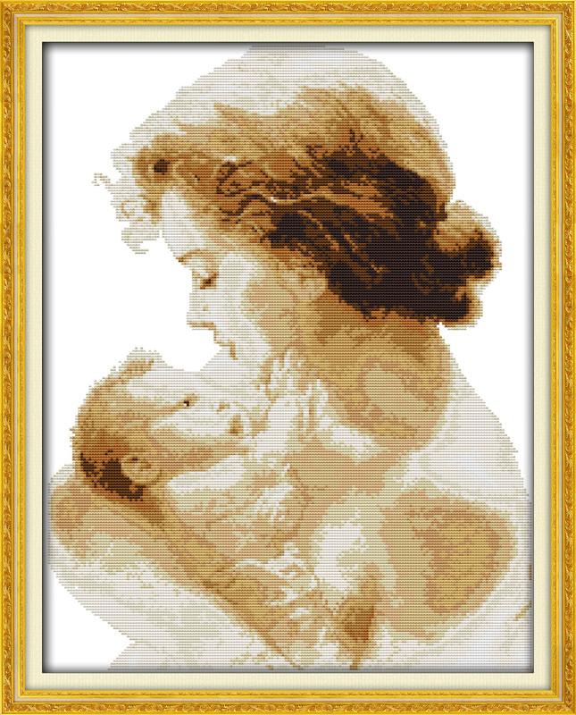 Мамина любовь R691 Набор для вышивки крестом с печатью на ткани 14ст