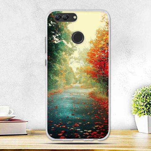 Силиконовый чехол бампер для Huawei Nova 2 с картинкой Осень