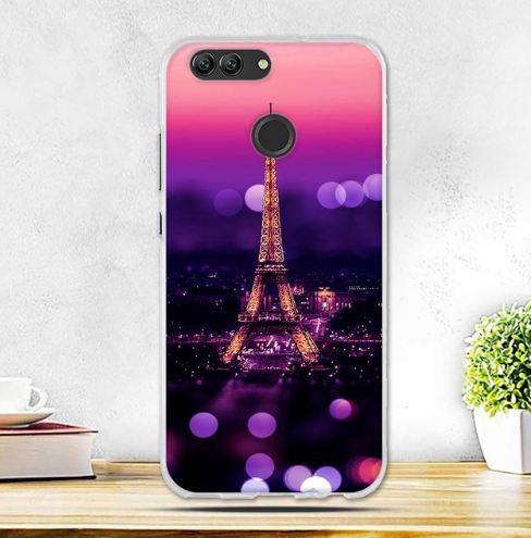 Силиконовый чехол бампер для Huawei Nova 2 с картинкой Париж ночью