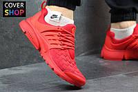 Кроссовки мужские Nike Air Presto TP QS, красные, материал - текстиль, подошва - пенка
