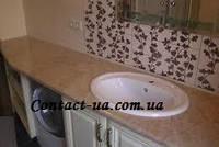 Столешницы из мрамора для ванной и кухни