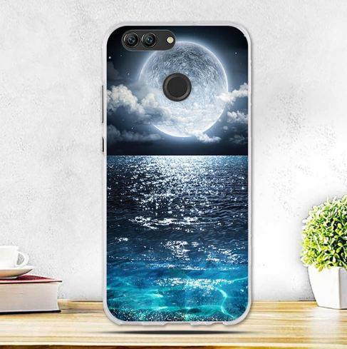 Бампер силиконовый чехол с принтом для Huawei Nova 2 Луна