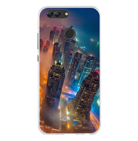 Бампер силиконовый чехол с принтом для Huawei Nova 2 Город