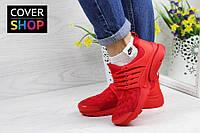 Кроссовки женские Nike Air Presto TP QS, красные, материал - текстиль, подошва - пенка