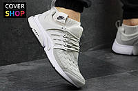 Кроссовки для бега Nike Air Presto TP QS, серые, материал - текстиль, подошва - пенка