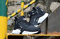Мужские кроссовки Huarache X Acronym City MID Leather Black/White