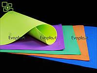 EVA, фоамиран 5 мм/зеленый 70х120 см. материал Evaplast 4100 (этиленвинилацетат), фото 1