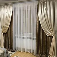 Готовые шторы софт+атлас №250
