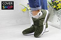 Кроссовки женские Nike Air Presto TP QS, темно-зеленые, материал - текстиль, подошва - пенка