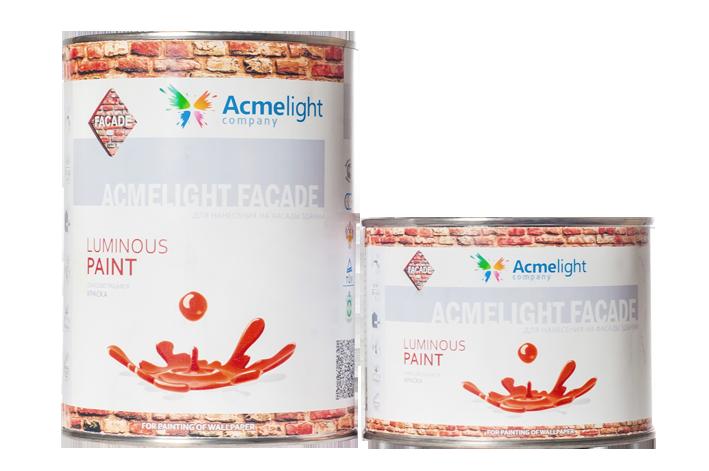 AcmeLight Facade - светящаяся фасадная краска. 0,25 л, 0,5 л, 1 л (9 цветов)