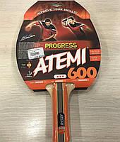 Ракетка для настольного тенниса Atemi 600 тренировочного класса 3*
