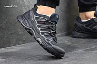Мужские кроссовки Salomon X Ultra синие с серым (Реплика ААА+)