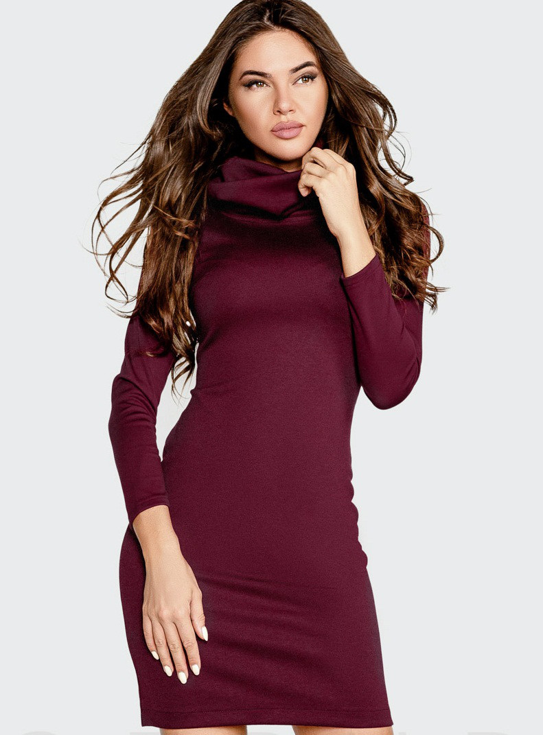 Стильное платье-плотный итальянский трикотаж S M L XL