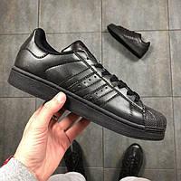 42 размер - Мужские Кроссовки Adidas Superstar Black