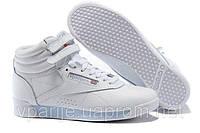 Высокие кроссовки Reebok белые кожаные