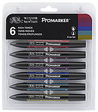 Набір маркерів WINSOR & NEWTON 6 шт  насичені тона /rich tones