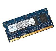 Б/У Память SO-DIMM DDR2, 512Mb, 667 MHz, Nanya (NT512T64UH8B0FN-3C)