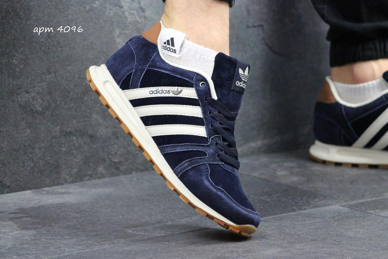 Мужские кроссовки Adidas Neo синие с белым (Реплика ААА+) - купить ... 4ac95c49b7f