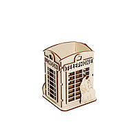 """Подставка для канцтоваров """"Телефонная будка"""""""