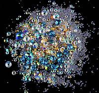 Стразы Swarovski mix, blue, фигурные