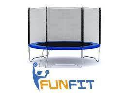 Батут FunFit 252 см  B-FF252 Фан Фит сетка и лестница, фото 3