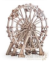 """Модель механическая, сувенирно-коллекционная """"Колесо обозрения"""", дерево, ТМ WOOD Trick, 190029"""