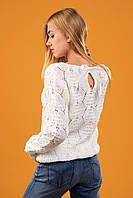 """Нарядный белый свитер с лентами на спинке """"Маями"""" - белый, фото 1"""