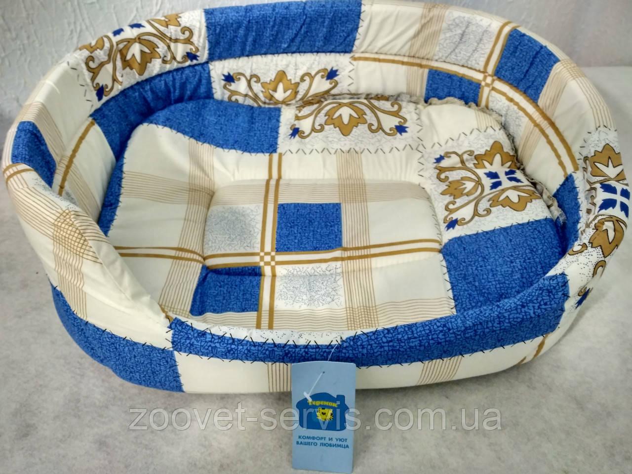 Лежанка овальная для собак и кошекКоллар№2 45х34х14см Д 242