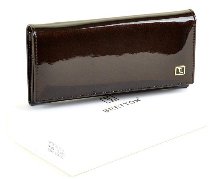 Оригінальний модний гаманець, шкіряний, жіночий Gold Bretton W501 dark-coffee, коричневий