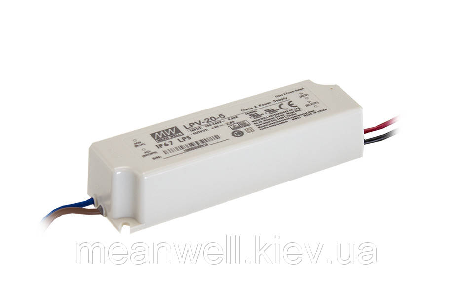 LPV-20-24 Блок питания Mean Well  Драйвер для светодиодов (LED) 20.2 Вт, 24 В, 0.84 А
