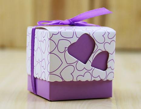Бонбоньерки Сердце (фиолетовая)